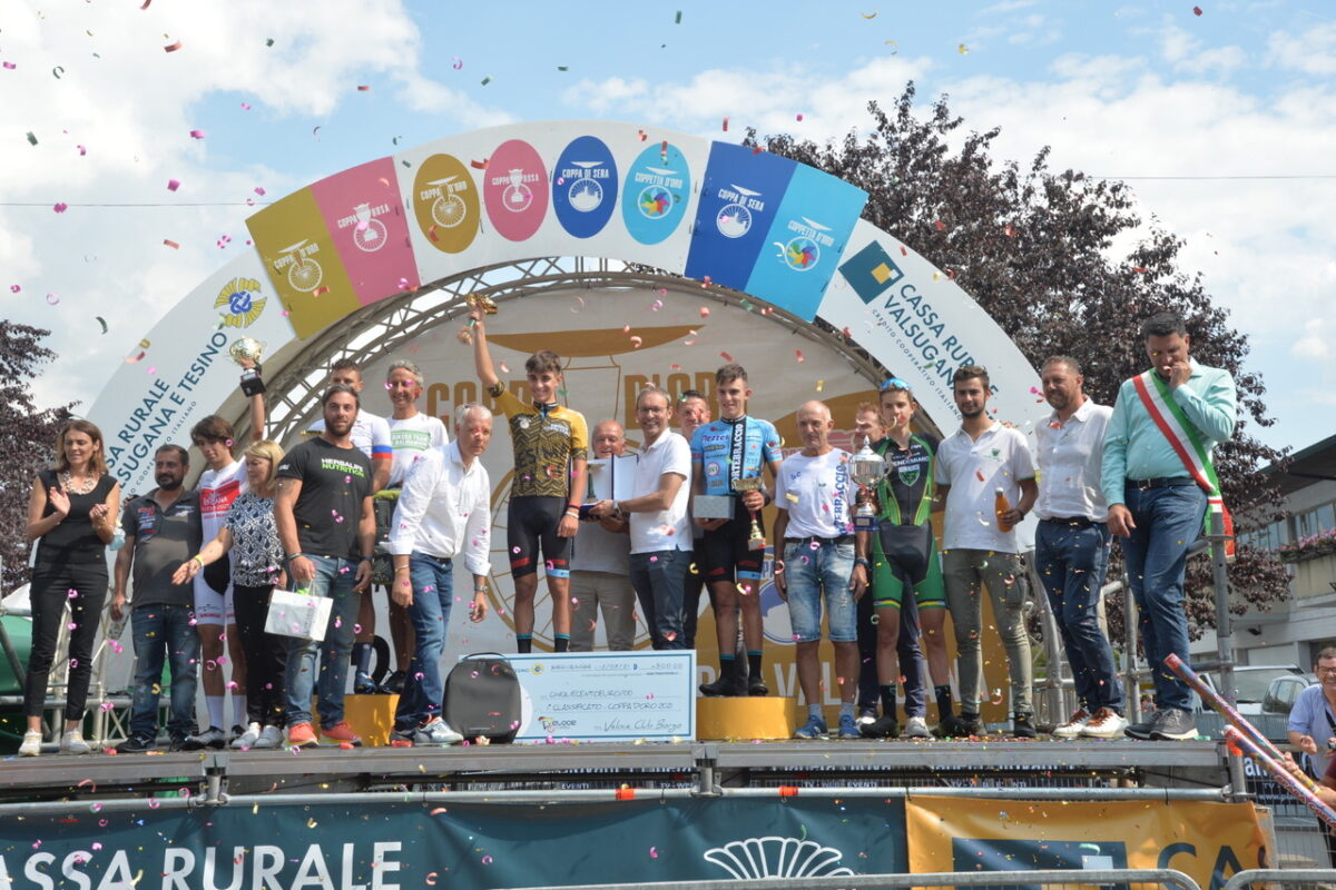 Il podio della 53° edizione della Coppa d'Oro - foto Daniele Mosna