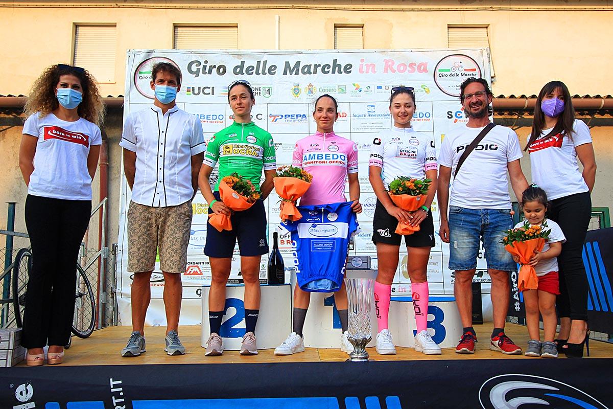 Le maglie dopo la prima prova del Giro delle Marche in Rosa 2021 (foto Flaviano Ossola)