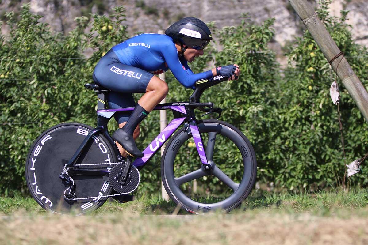 Vittoria Bussi ha concluso ottava il Campionato Europeo a cronometro di Trento (foto Photobicicailotto)