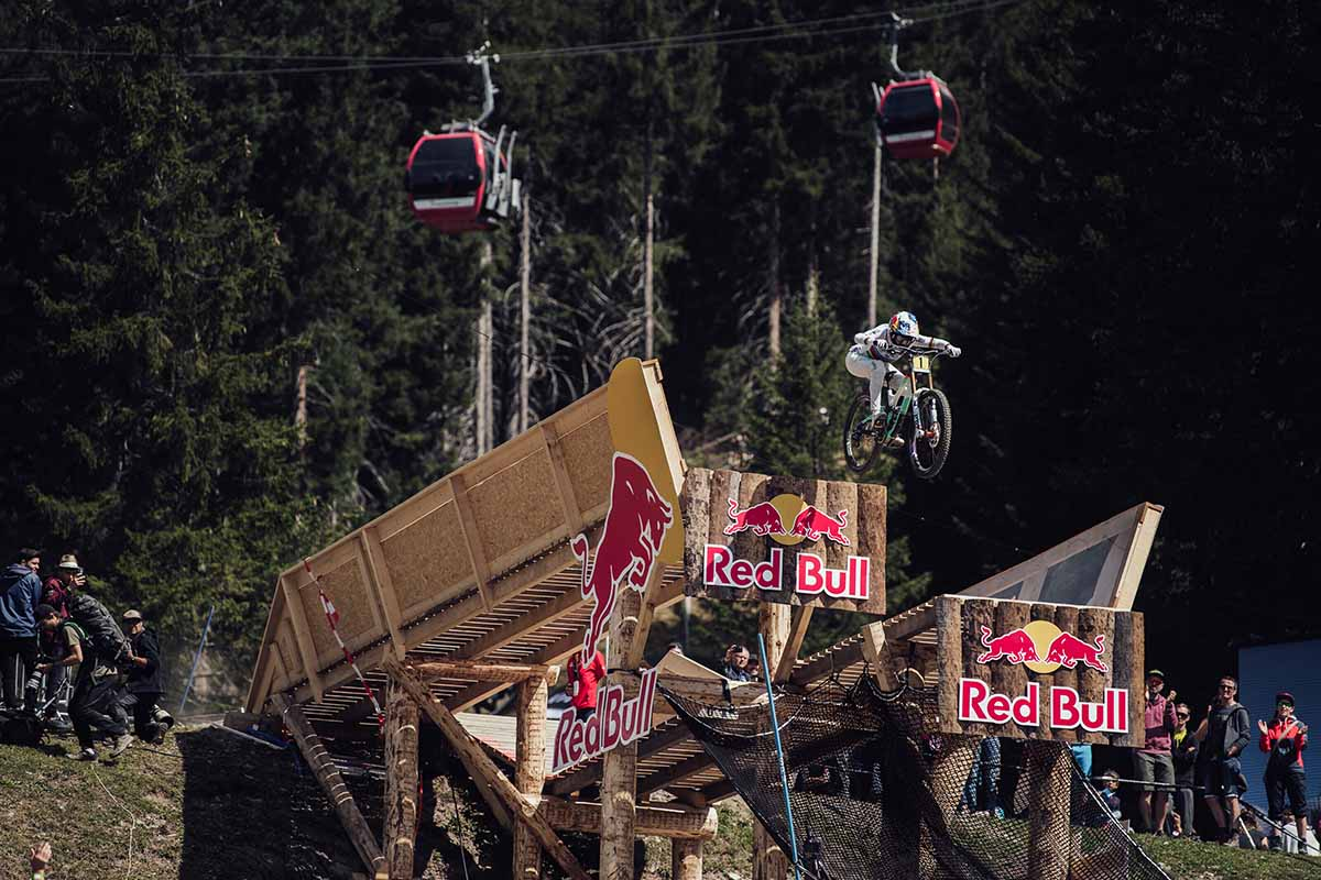 Myriam Nicole performs at UCI DH World Cup in Lenzerheide