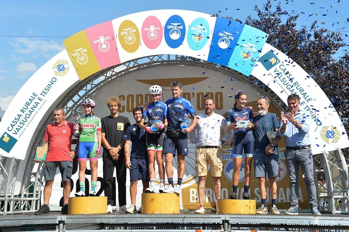Il podio della Coppa di Sera Donne Esordienti 1° anno (foto Daniele Mosna)