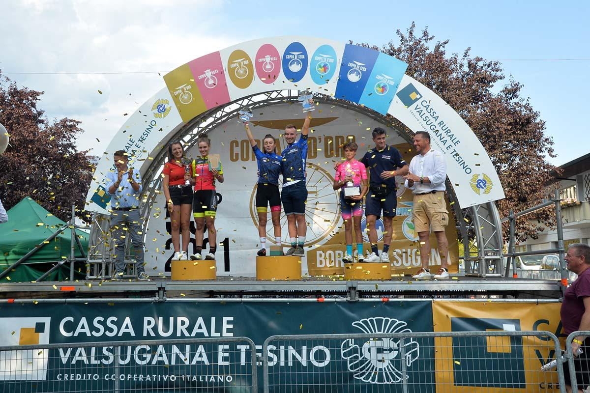 Il podio della Coppa di Sera Donne Esordienti 2° anno (foto Daniele Mosna)