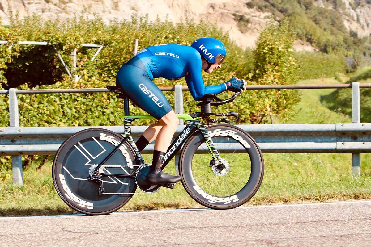 Vittoria Guazzini vincitrice del Campionato Europeo a cronometro Donne U23 a Trento (foto Photobicicailotto)