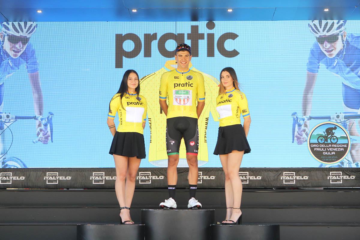 Matteo Zurlo leader dopo la prima tappa del Giro della Regione Friuli Venezia Giulia 2021 (foto Bolgan)