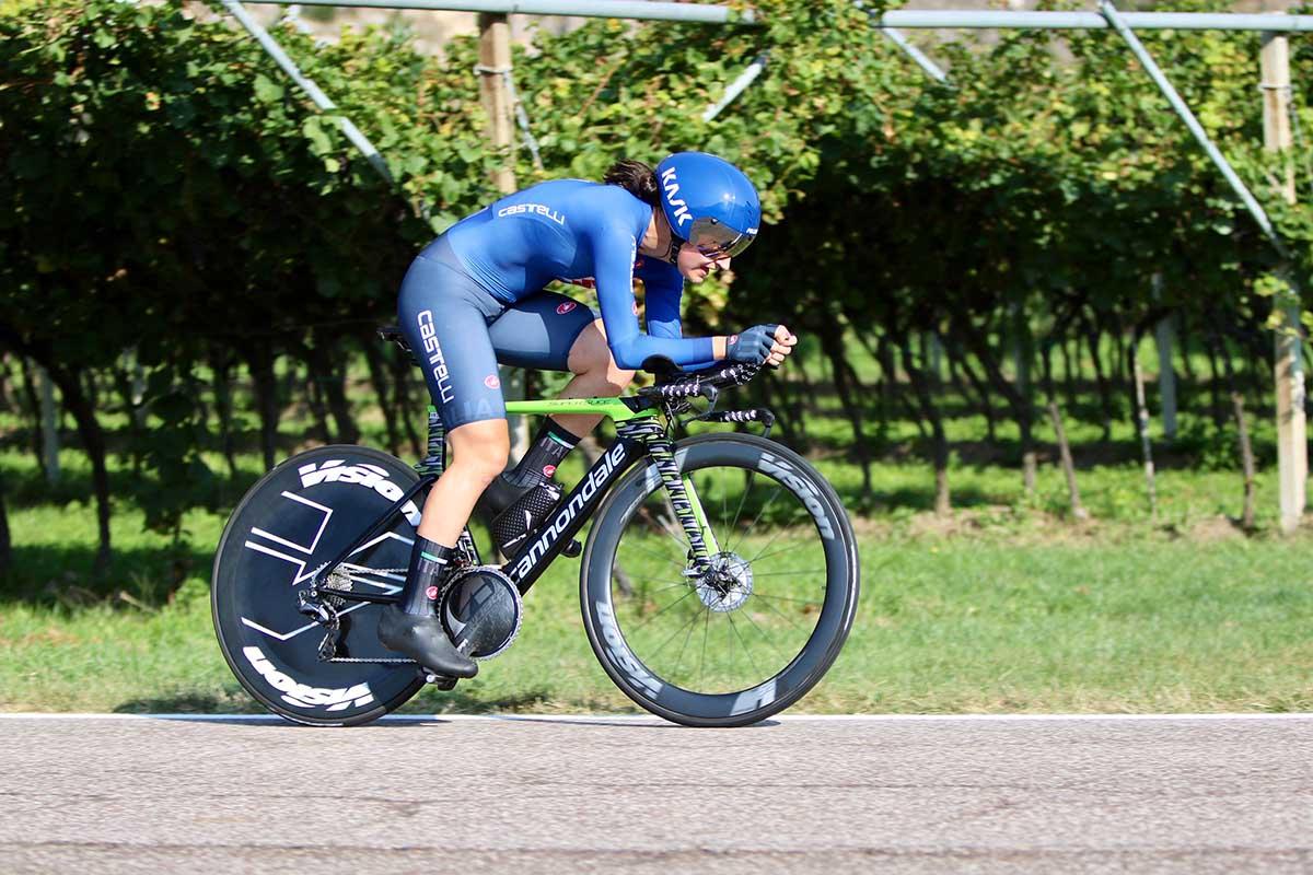 Elena Pirrone terza al Campionato Europeo a cronometro Donne U23 a Trento (foto Photobicicailotto)