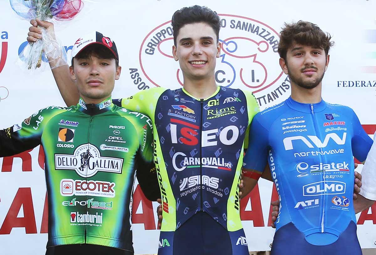 Il podio di Sannazzaro de' Burgundi (foto Rodella)
