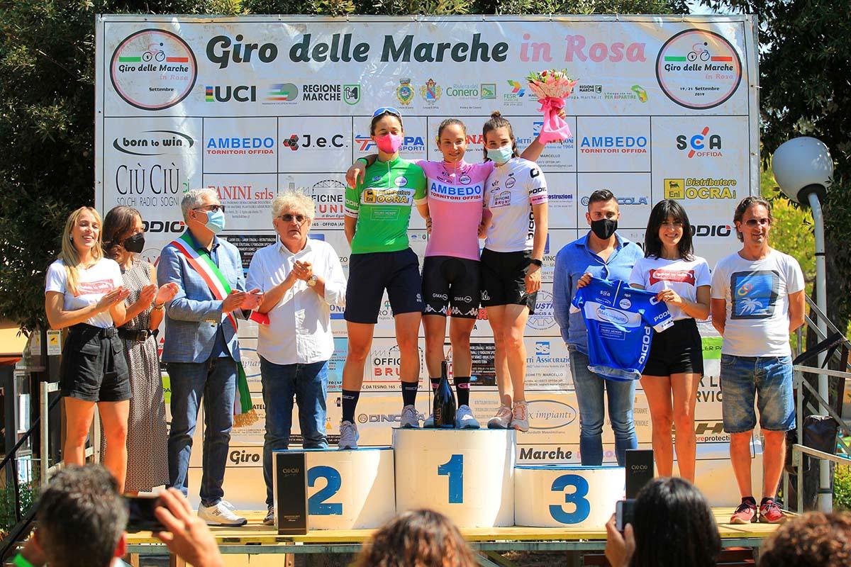 Le tre maglie del Giro delle Marche (foto F. Ossola)