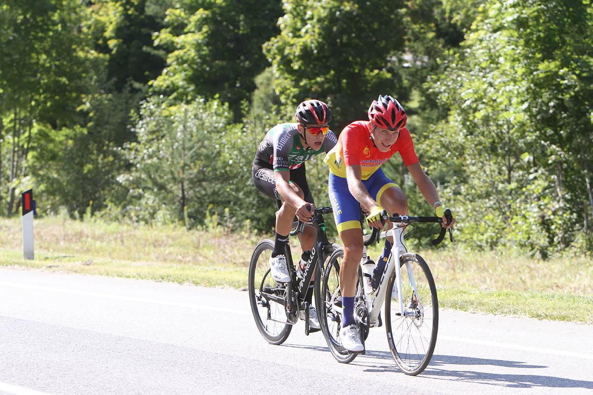 Filippo D'Aiuto e Matteo Zurlo in fuga nella prima tappa del Giro della Regione Friuli Venezia Giulia 2021 (foto Bolgan)