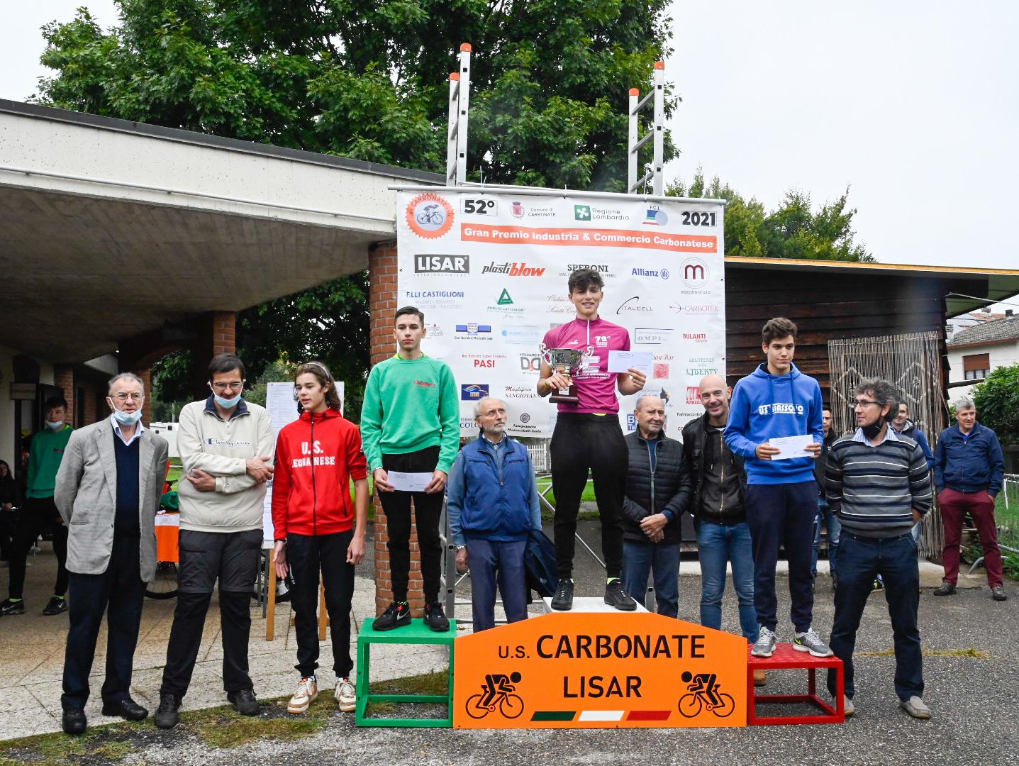 Manuel D'Angello vince la classifica giovani del Giro della Provincia di Como 2021