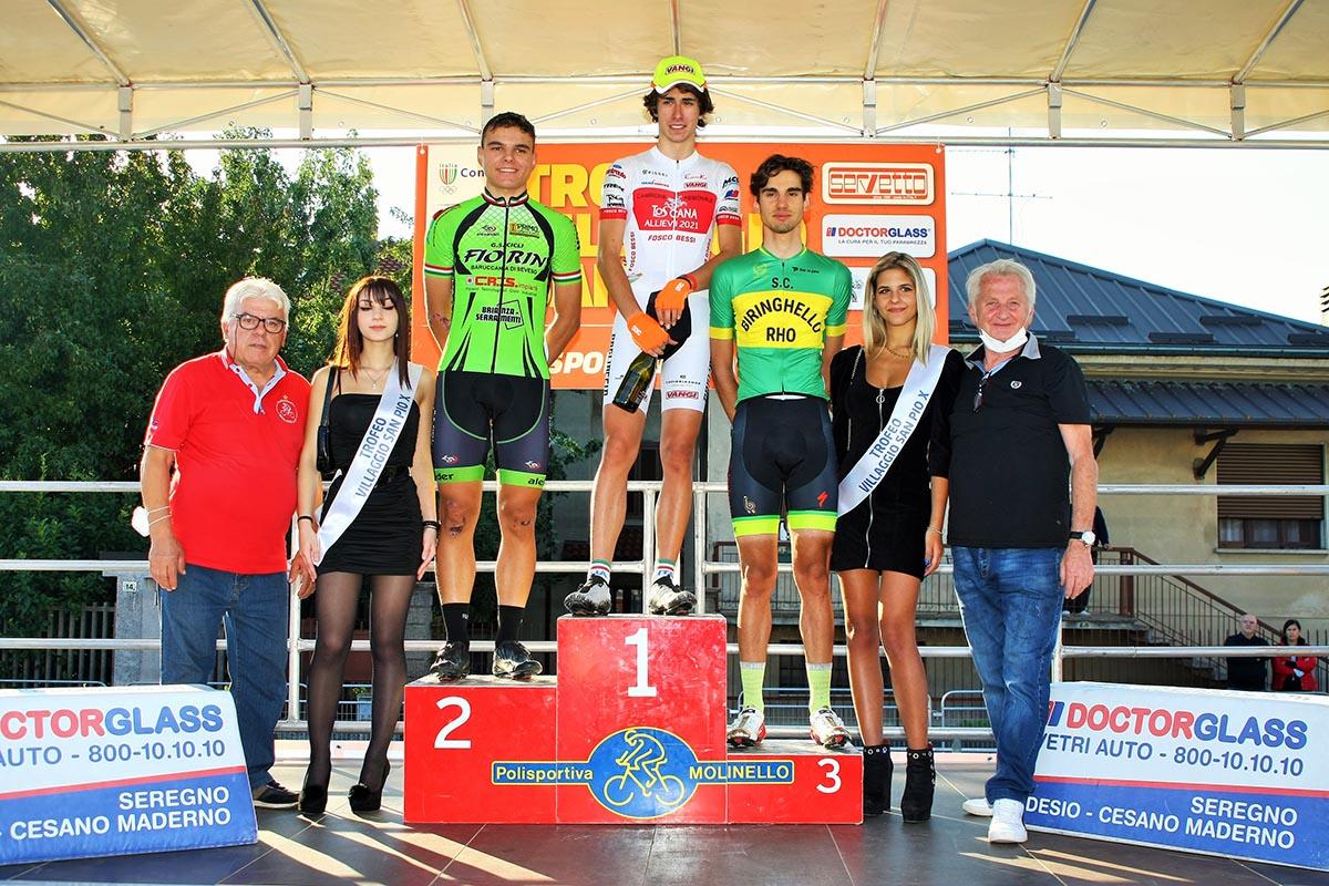 Il podio del Trofeo San Pio X a Cesano Maderno (foto Berry)